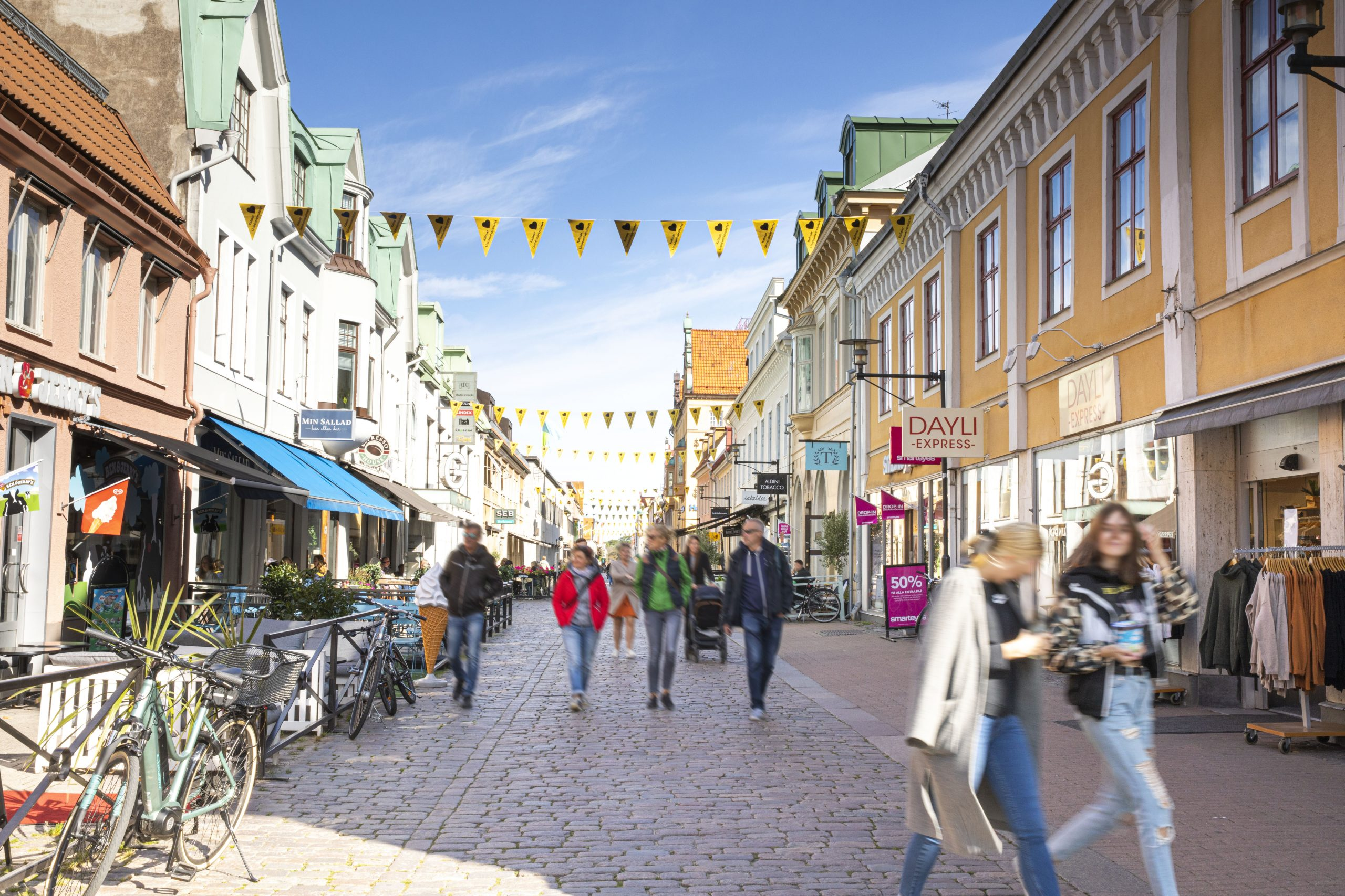 Shopping på storgatan i Kalmar
